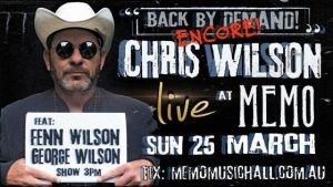 Oz Blues man Chris Wilson's favourite musicians, song inspiration and performing with his sons!