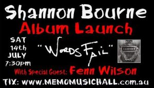 Shannon Bourne Album launch